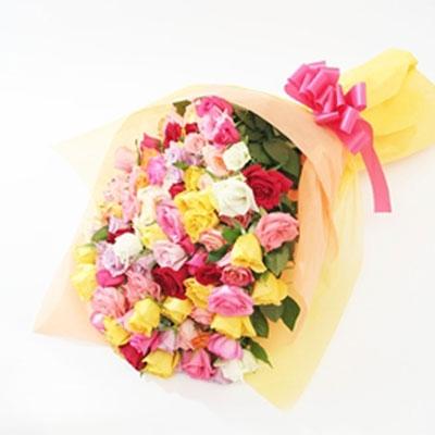 カラフルな花束